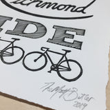 rva handmade art print bicycle