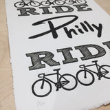 philadelphia bike wall art print