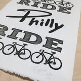 philly cyclist wall art gift