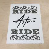 Ride Astoria Ride,  Prints, handmade, american made - The Matt Butler