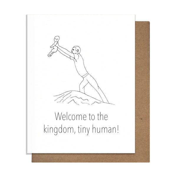 Welcome to the Kingdom Baby Card,  Greeting Card, handmade, american made - The Matt Butler