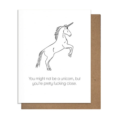 Unicorn Friendship Card,  Greeting Card, handmade, american made - The Matt Butler