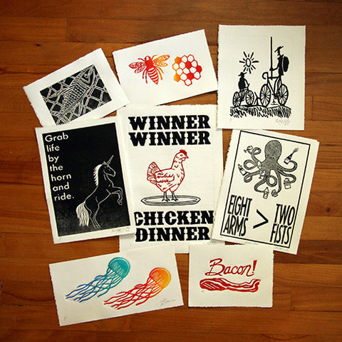 Mystery Print Pack!,  Prints, handmade, american made - The Matt Butler