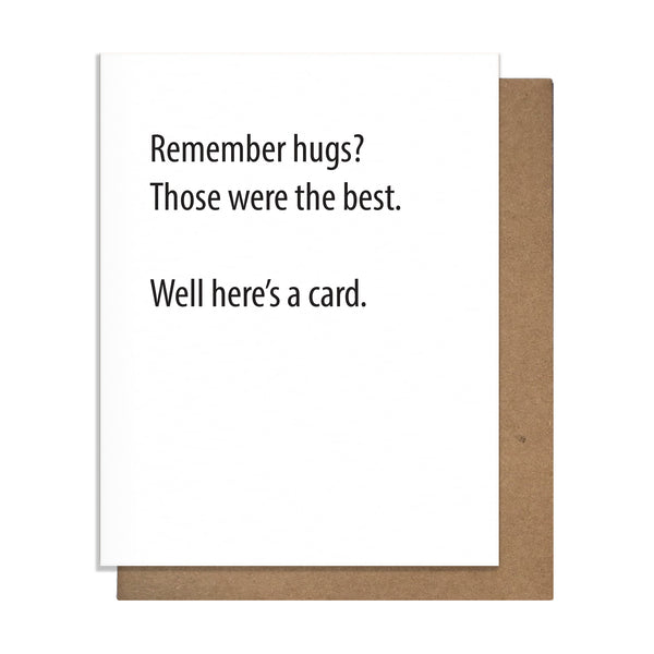 Remember Hugs Card