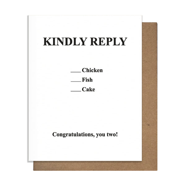 Response Card,  Greeting Card, handmade, american made - The Matt Butler