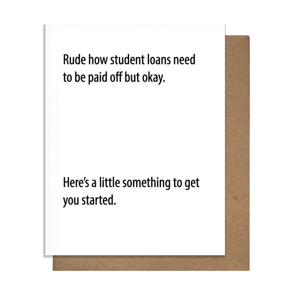 Rude Loans Card,  Greeting Card, handmade, american made - The Matt Butler