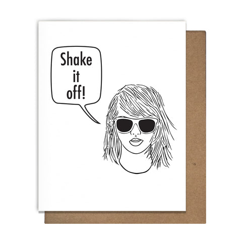 Shake It Off! T Swift Card,  Greeting Card, handmade, american made - The Matt Butler