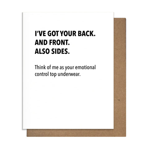 Emotional Control Top Card,  Greeting Card, handmade, american made - The Matt Butler