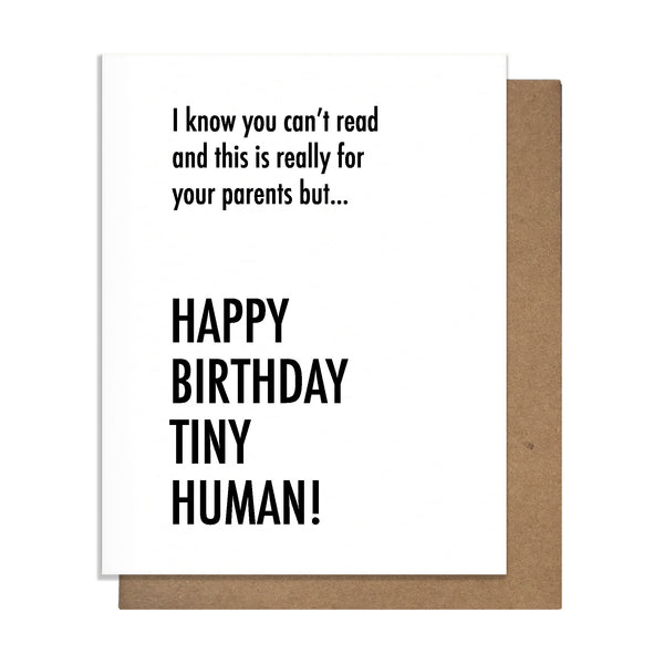 Tiny Human Birthday Card,  Greeting Card, handmade, american made - The Matt Butler