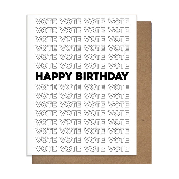 Vote Birthday Card