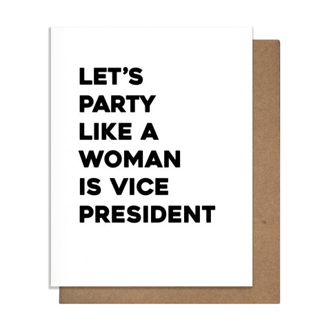 Woman VP Card