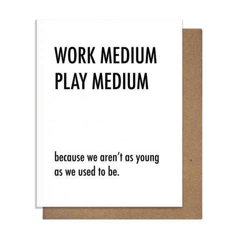 Work Medium Card,  Greeting Card, handmade, american made - The Matt Butler