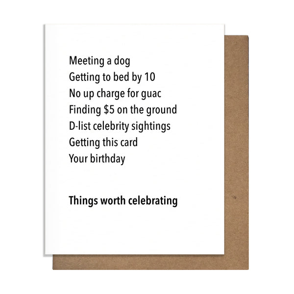 Worth Celebrating Birthday Card,  Greeting Card, handmade, american made - The Matt Butler