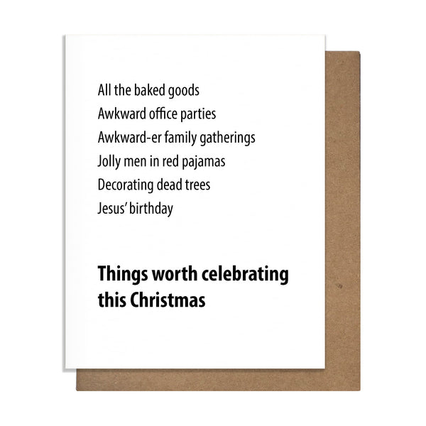 Worth Xmas Card,  Greeting Card, handmade, american made - The Matt Butler