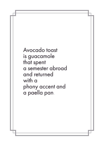 Avocado Toast Print,  Prints, handmade, american made - The Matt Butler