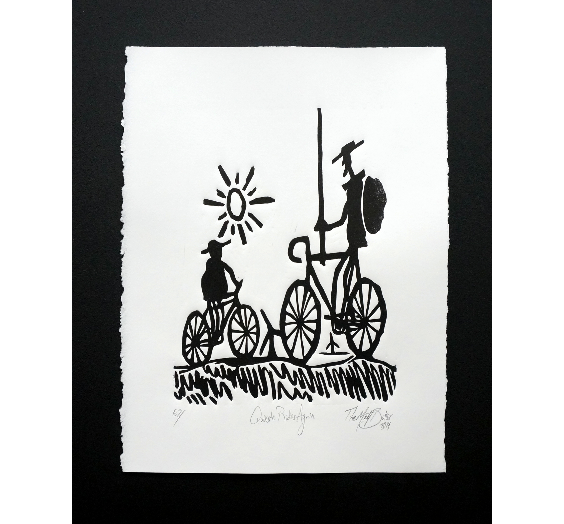 Quixote Rides Again Print,  Prints, handmade, american made - The Matt Butler