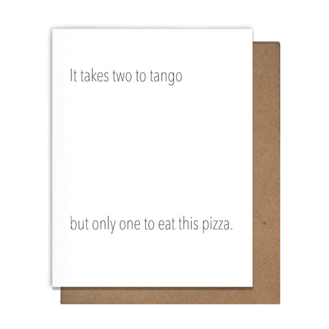 Pizza Tango Greeting Card,  Greeting Card, handmade, american made - The Matt Butler
