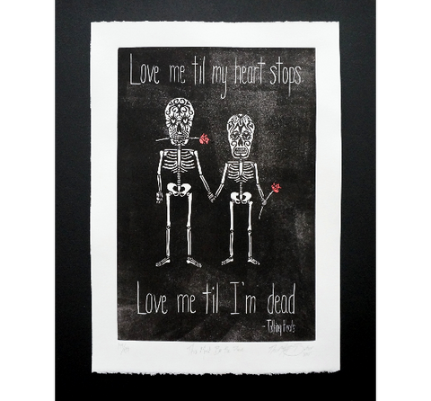 Sugar Skull Love Print,  Prints - The Matt Butler
