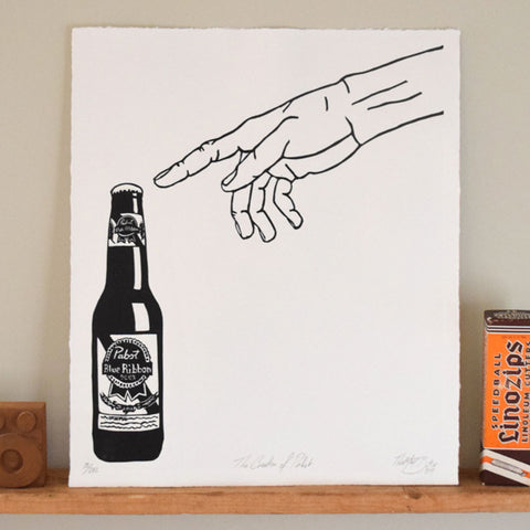 The Creation of Pabst Print,  Prints, handmade, american made - The Matt Butler