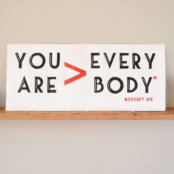 You > Everybody Print,  Prints, handmade, american made - The Matt Butler