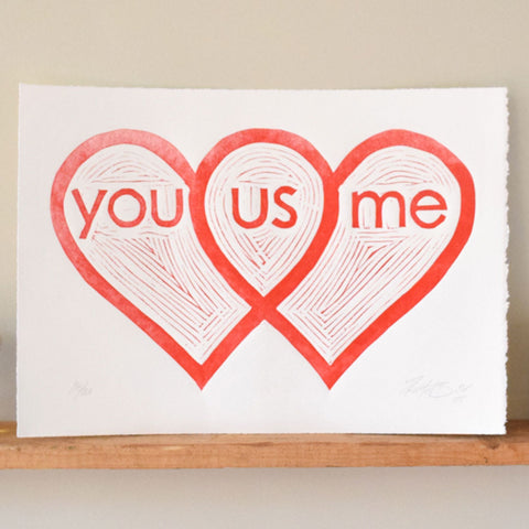 You Us Me Print,  Prints, handmade, american made - The Matt Butler