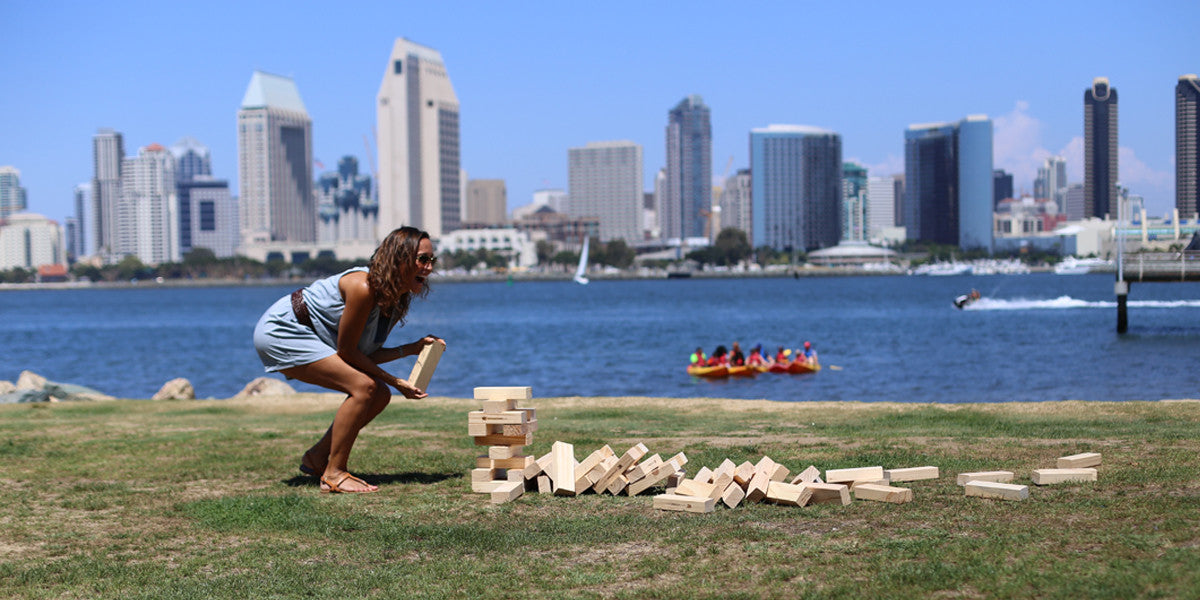 Who knew 56 blocks of wood could be so fun.