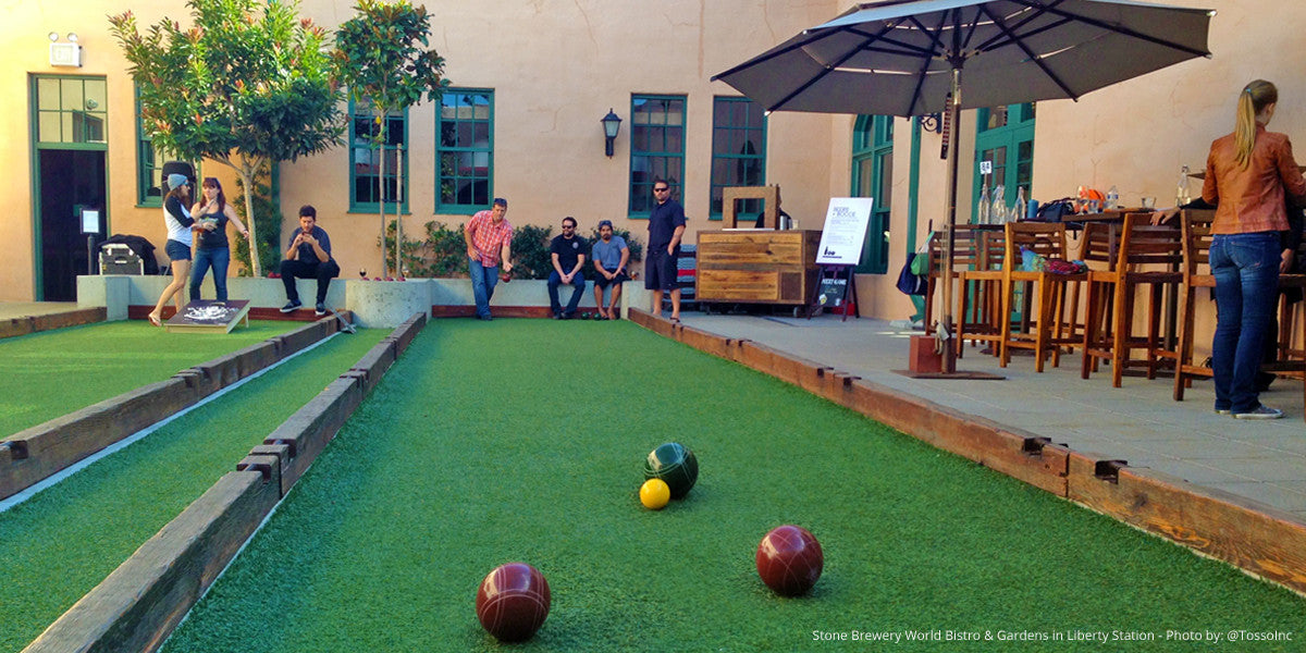 Bocce Ball Courts in San Diego Bars & Restaurants