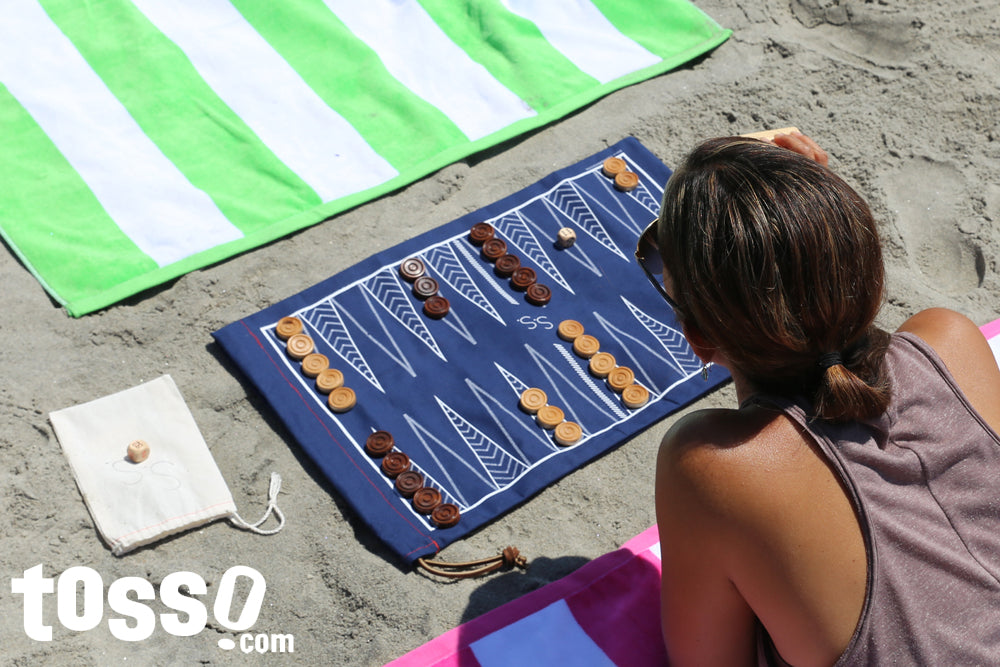 Summer Shop Beach Backgammon & Checkers