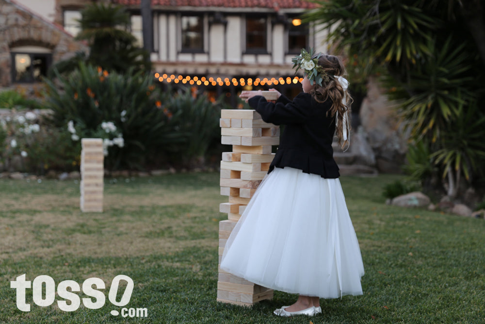 Lawn Games at Weddings - Giant Tumble Tower