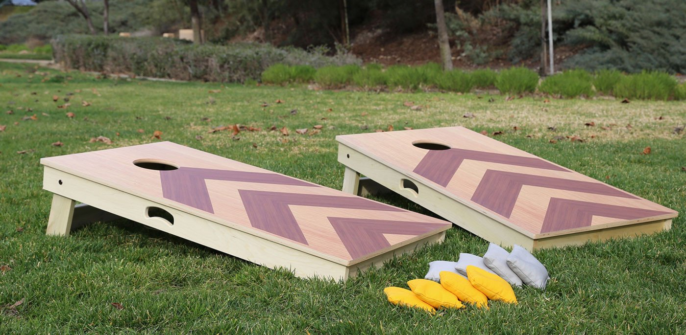 Angle Design Cornhole Boards