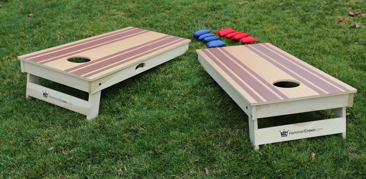 Racing Stripe Cornhole Boards