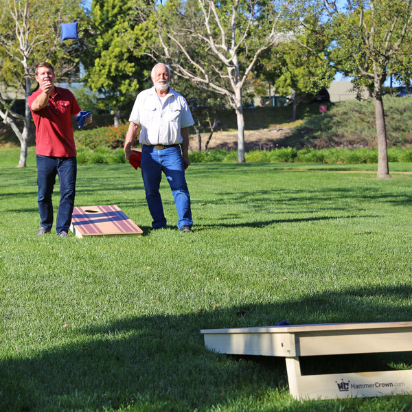 Premium Cornhole Game (Racing Stripes)