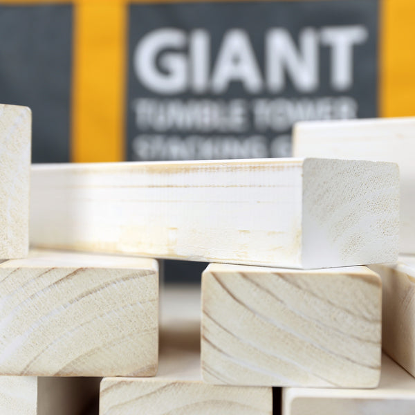 Giant Tumble Tower; White Distressed Finish and FREE bonus block bottle opener