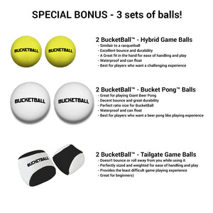 Bucket Ball - Bonus Pack - Comes with 3 sets of balls