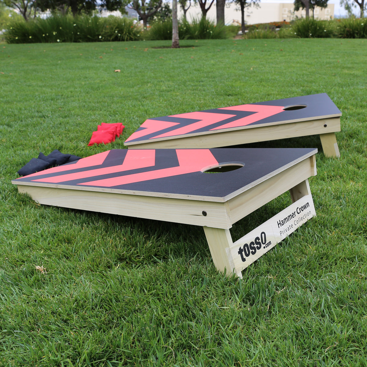 Premium Cornhole Game (Custom Team Colors Angles)