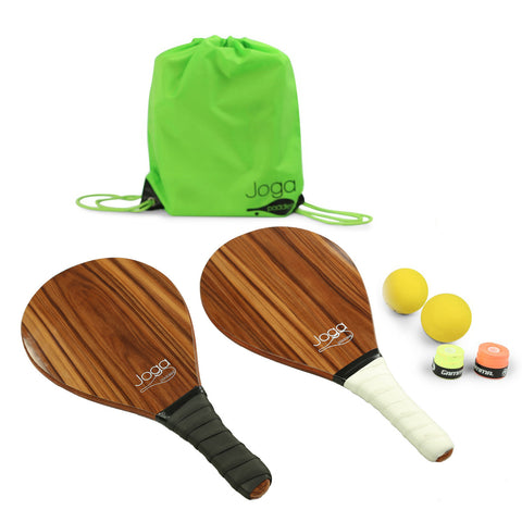 Joga Frescobol Paddles Set (Wood; Dark)