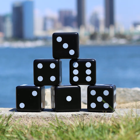 Giant Wooden Dice (Black & White)