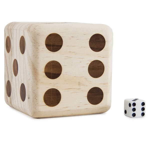 Giant Wooden Dice (Burned Pips)