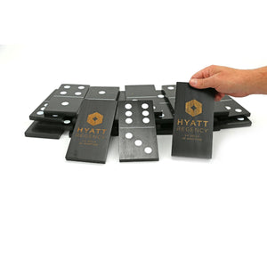 Personalized Giant Black Dominoes