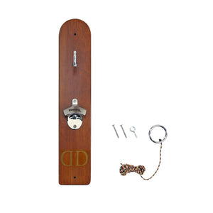 Personalized Hook and Ring Game with Bottle Opener and Magnetic Bottle Cap Catch