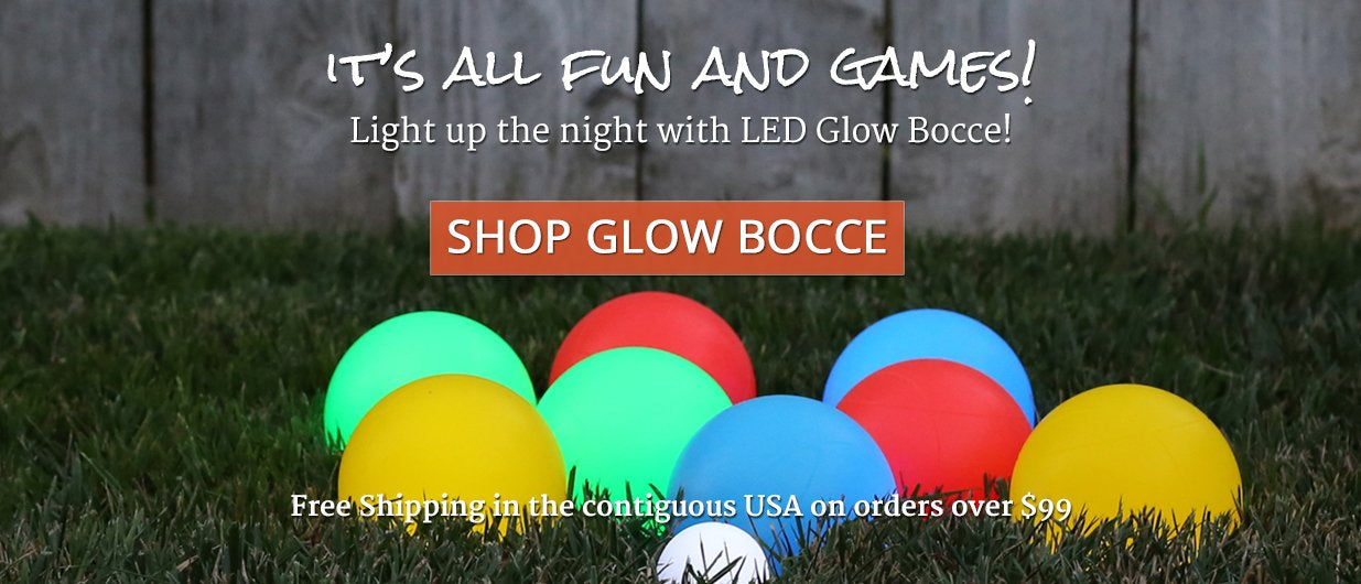 LED Glow Bocce Ball Set