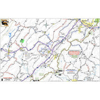 Map #1 -- Great Rides Near the Start of the Blue Ridge Parkway in Virginia