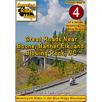 Map #4 -- Great Roads Near Boone, Banner Elk, and Blowing Rock