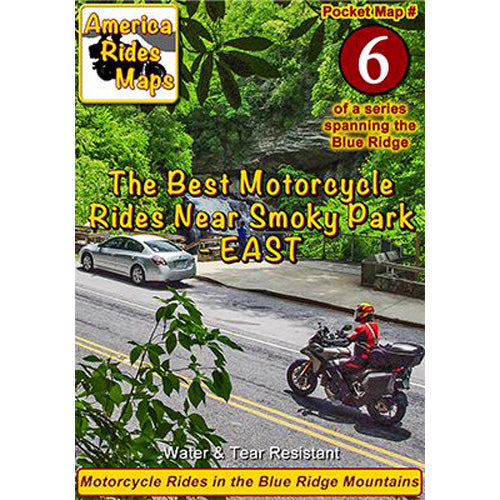 Map #6 -- Best Motorcycle Rides near Smoky Mountains Park - EAST