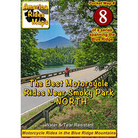 Map #8 -- The Best Motorcycle Rides NORTH of Great Smoky Mountains National Park
