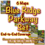 Motorcycle Ride Maps: The Blue Ridge Parkway Series (6 Map Pack)