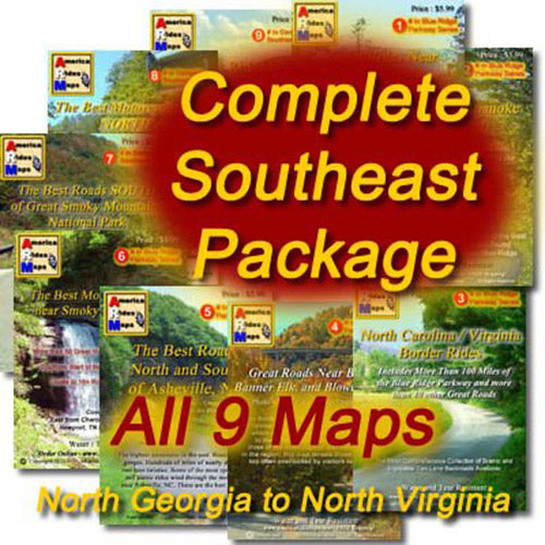 Motorcycle Ride Maps: The Southern Appalachian Series (9 Map Pack)