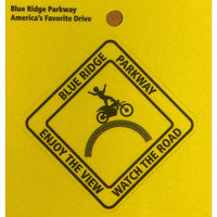 Blue Ridge Parkway Motorcycle Safety Sticker