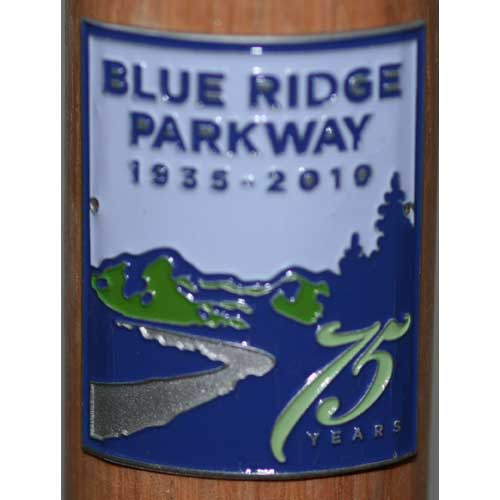 Blue Ridge Parkway 75th Anniversary Walking Stick Medallion