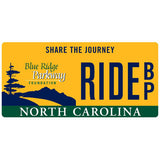 "Blue Ridge Parkway ""RIDE"" License Plate"